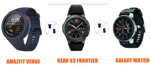 amazfit verge vs gear s3 vs galaxy watch compared