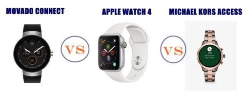 movado connect vs apple watch 4 vs michael kors access compared