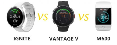 polar ignite vs vantage v vs m600