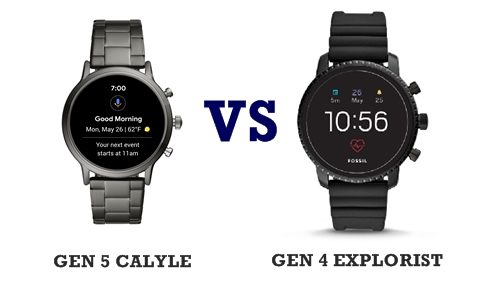 Fossil gen 5 calyle vs gen 4 explorist compared